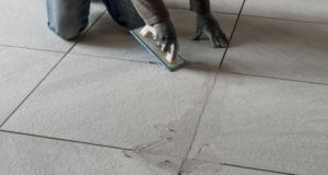 stuccatura e pulizia